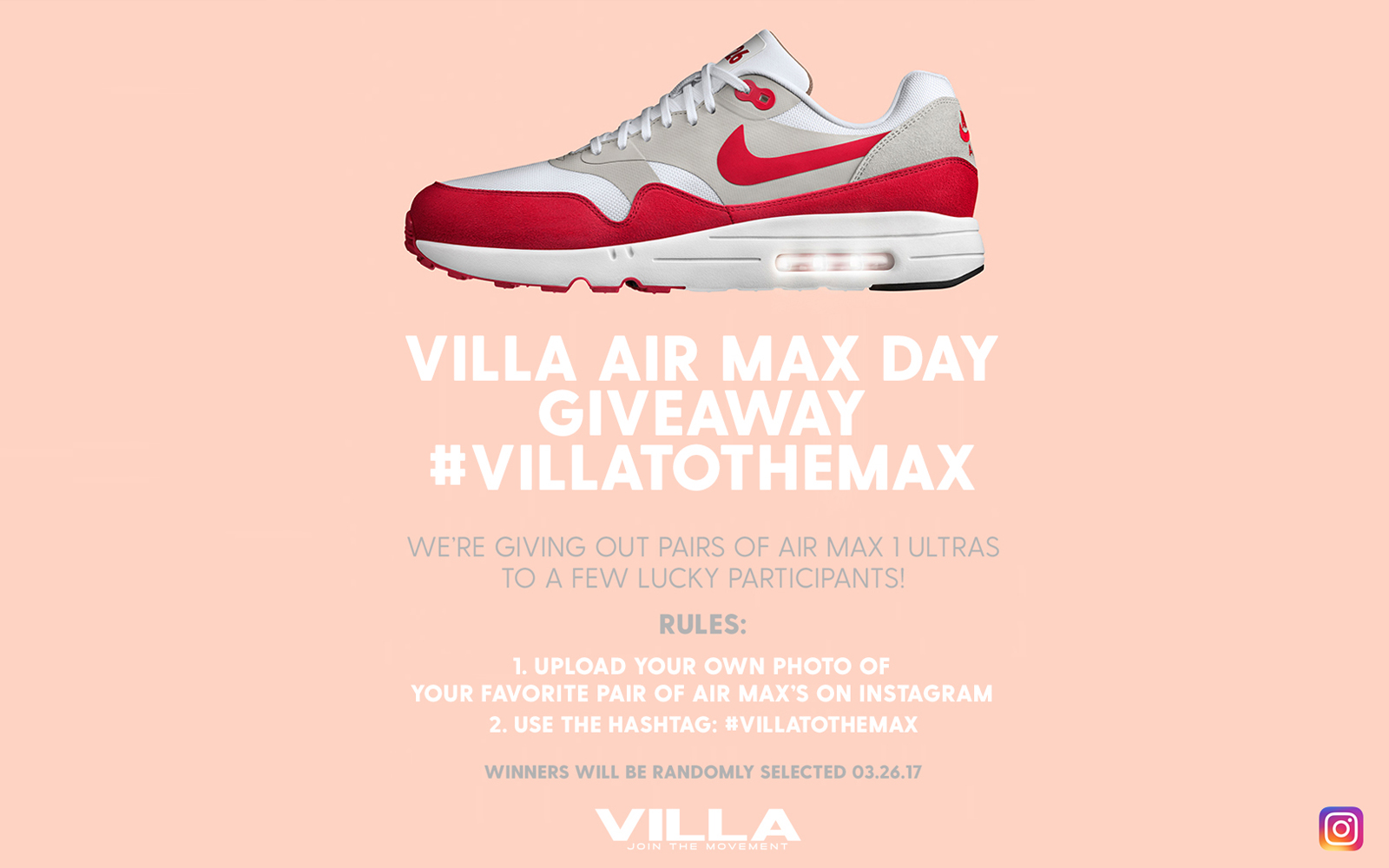 Villa Air Max Day Contest Giveaway The Lifestyle