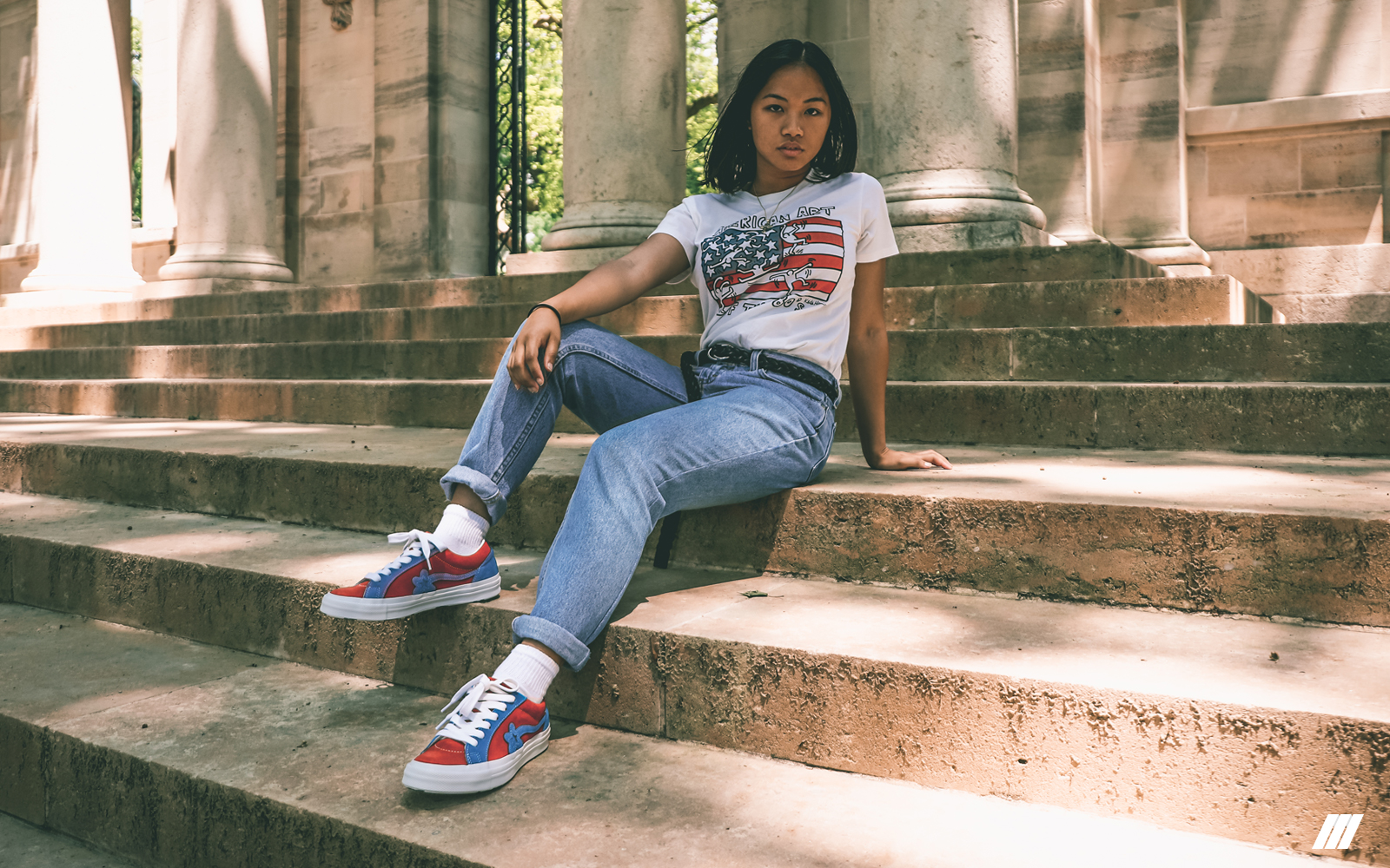 Sneaks Style Mary Saint Creates Art In The Converse X Golf Le Fleur The Lifestyle