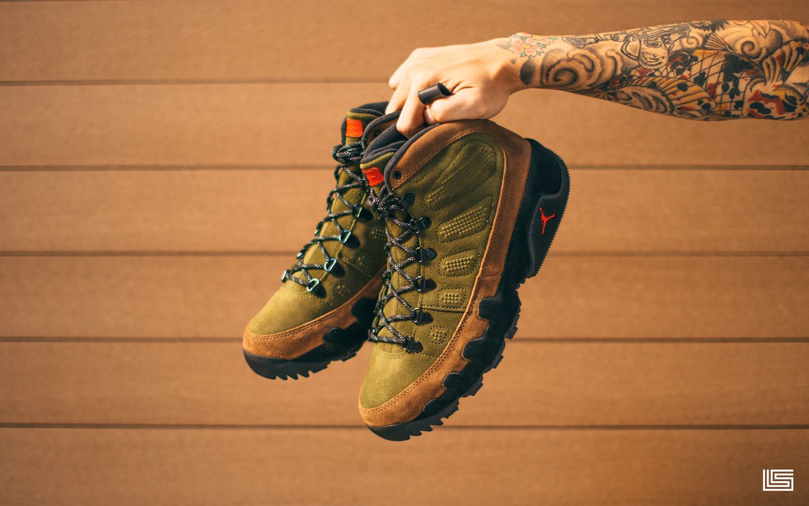 EXCLUSIVE HEAT | AIR JORDAN RETRO 9 BOOTS 'BEEF & BROCCOLI'