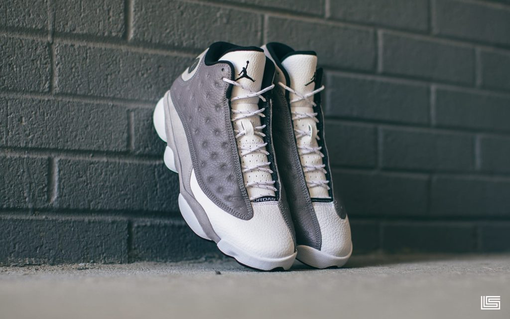 """005bb5a4e8e The Nike Air Jordan Retro 13 """"Atmosphere Grey"""" will be available on  DTLR.COM and at select DTLR/VILLA locations on Saturday, March 23rd at 10AM."""