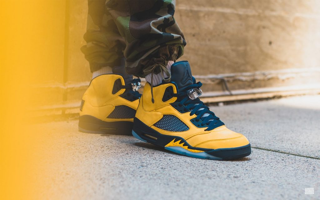 "competitive price 6b220 df048 Set to Drop: Air Jordan Retro 5 ""Michigan"" 